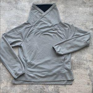 Puma folding collar sweatshirt